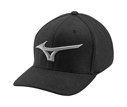 Mizuno Tour Performance Golf Hat, Black, One Size (6 7/8
