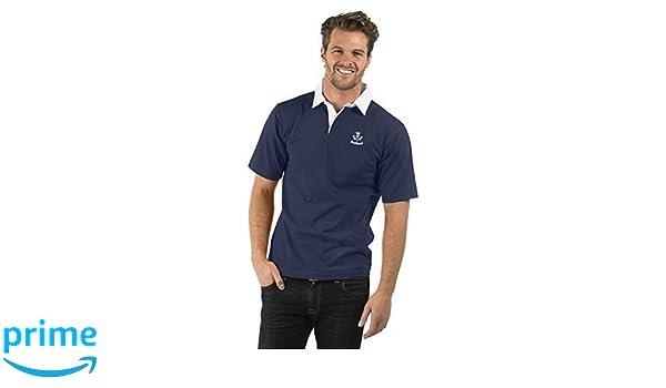Scotland Thistle Short Sleeve Rugby Shirt XS to 2XL Color Azul Marino Escocia Thistle Cardo de Manga Corta Camisa de Rugby