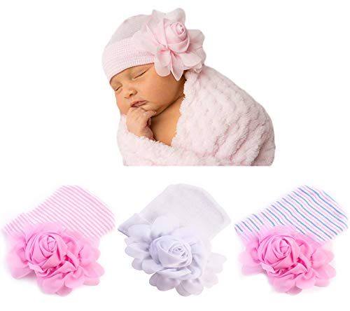 oft Turban Baby Girl Big Bow Knot Cap (FBL(3PCS)) ()