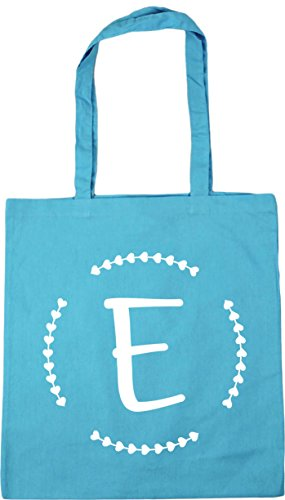 Shopping Gym Beach E 10 x38cm litres HippoWarehouse 42cm Initial Blue Tote Bag Surf C4wHFqtg