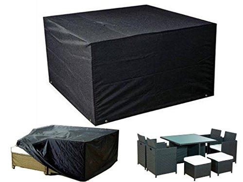 FiNeWaY Heavy Duty Waterproof Rattan Cube Cover Outdoor Garden Furniture Rain Protection Size 120Cm X 120Cm X 74Cm Heavy Duty Rattan Cube Cover (Rattan Furniture Cube)