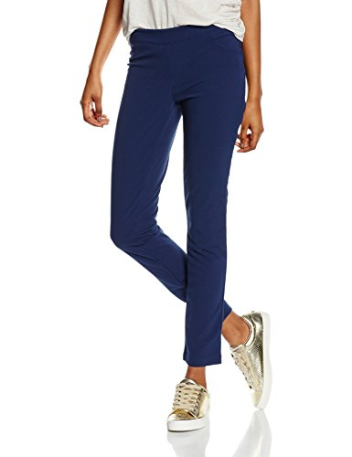 Isabella Femme Con Pantalon Cuciture Bleu navy up Pantaloni Roma Push faxrw0fq