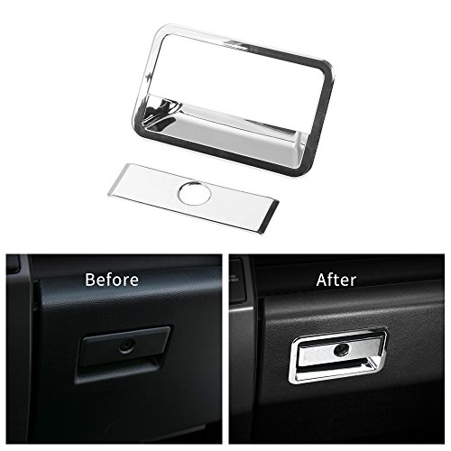 - Voodonala Chrome Co-pilot Organizer Storage Box Handle Trim For Ford F150 2015 2016 2017