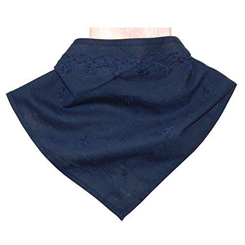 Lot de 10 Foulards Triangulaires 60x40x40cm Bleu foncé Fichu Coton Accessoire Vêtement