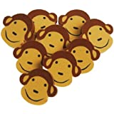 Set Of 24 Assorted Monkey Face Theme Erasers