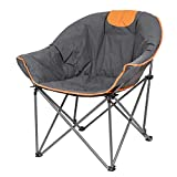 Suntime Moon Camping Chair, Leisure Portable Stable Comfortable Folding Saucer Chair and Sofa Chair for Camping, Hiking, Fishing, Carry Bag Included