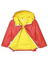 Kids Waterproof Hooded Raincoat Windbreaker Solid Rain Jackets Outwear