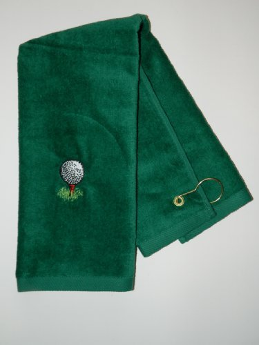 - Personalized Golf Design Towel corner grommet with hook