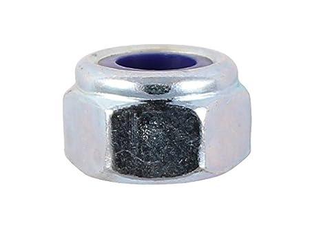 TIMco 6NPP DIN 982 BZP Type P Nylon Nut M6 - Zinc (Pack of 20)