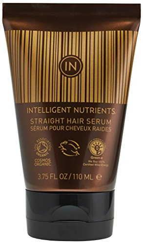 (Intelligent Nutrients Straight Hair Serum - Certified Organic Leave-In Hair Serum with Light to Medium Hold (3.75 oz))