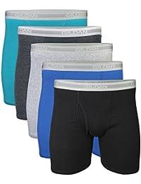 Men's Regular Leg Boxer Briefs 5 Pack