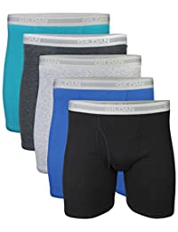 Gildan Mens Standard Regular Leg Boxer Briefs 5 Pack
