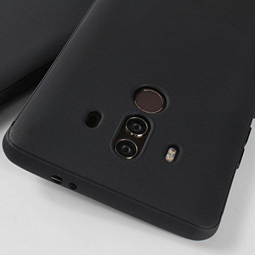 Funda para Huawei Mate 10 Pro , IJIA Puro Negro Rainbow Unicornio TPU Silicona Suave Cover Tapa Caso Parachoques Carcasa Cubierta Case para Huawei Mate 10 Pro (6.0) Black-XY15
