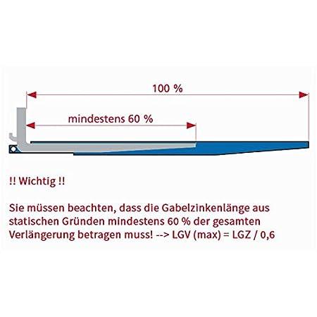 Stapler Gabeln Gabelstapler Gabelverl/ängerung geschlossen 2400 mm Verl/ängerung f