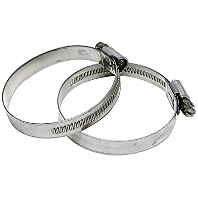 "HPS EMSC-60-80x2 Stainless Steel Embossed Hose Clamps, SAE 44, 2-3/8"" - 3-1/8"" (Pack of 2): Industrial & Scientific"