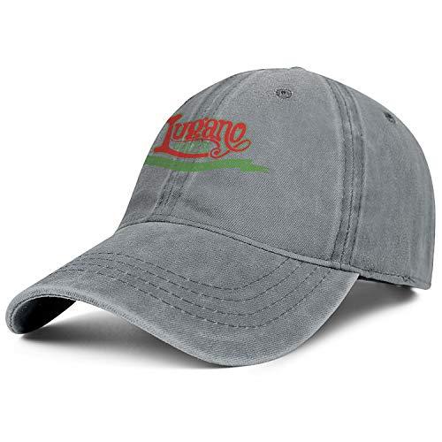 - Unisex Cowboy Hat Lugano Cheese Logo Casual Outdoor Trucker Adjustable Fits Cowboy Hat