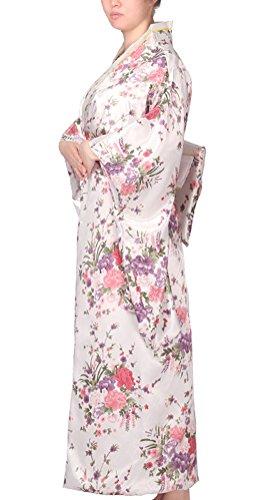3fd5203657 Soojun Women s Traditional Japanese Kimono Style Robe Yukata Costumes 2  White