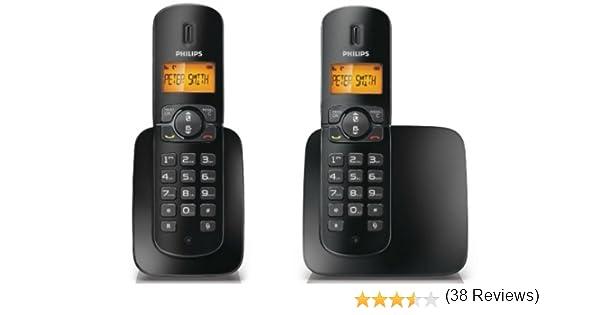 Philips CD1802B/23 Teléfono inalámbrico BeNear Duo, color negro: Amazon.es: Electrónica