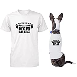 My Gym Shirts Matching T-shirts for Owner and Dog Funny Pet and Human Apparel