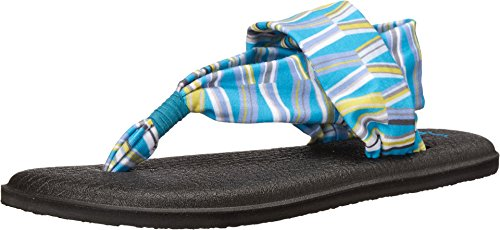 (Sanuk Women's Yoga Sling 2 Prints Blue/Green Mod Geo Sandal)
