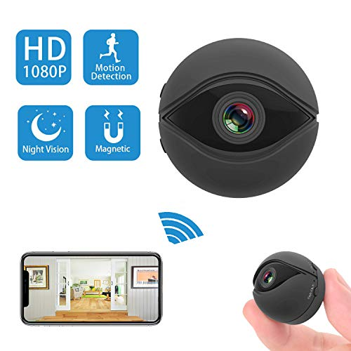 Mini Spy Camera Wireless Hidden 1080p Portable Home WiFi Security Cameras with App,Video Recorder Covert Nanny Cam with Night Vision Motion Activated for Indoor Outdoor,Support iOS/Android