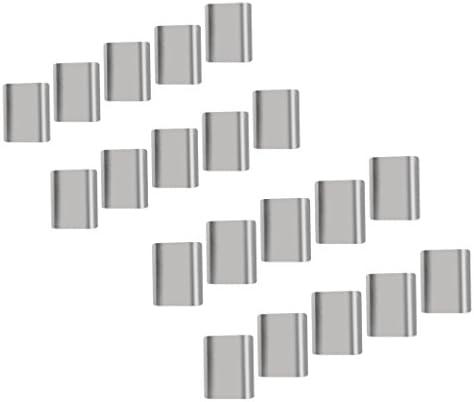 H HILABEE 20pcs Aluminium Stahldrahtseil Kabel Aderendhülsen Crimphülsen 6 / 8mm