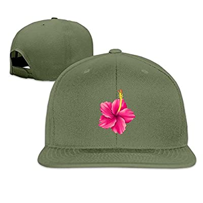 JXSED Hibiscus Flat Visor Snapback Hat Baseball Cap Blank Cap for Men Women from JXSED