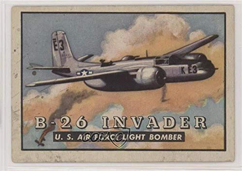 (B-26 Invader U.S. Air Force Light Bomber Ungraded COMC Good to VG-EX (Trading Card) 1952 Topps Wings - Friend or Foe - R707-4#8)