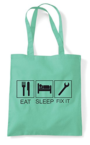 Tiles Tote Hobby Mint Activity Eat Sleep Fix Shopper It Funny Bag q4tF0n