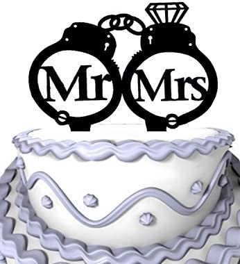MR /& MRS HEART DETAIL PERSONALISED BY NAME /& DATE cake topper bunting wedding