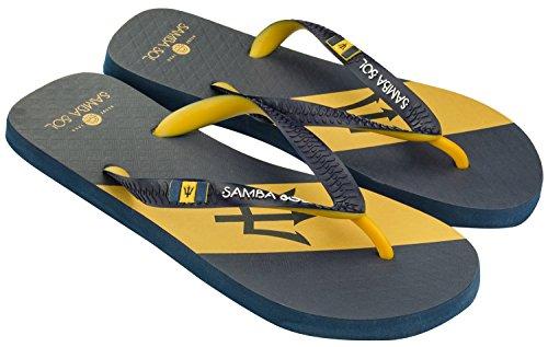 Samba Sol Mens Flagga Samling Flip Flops - Modet Och Bekväma. Trendiga Och Klassiska Sandaler För Mens. Barbados