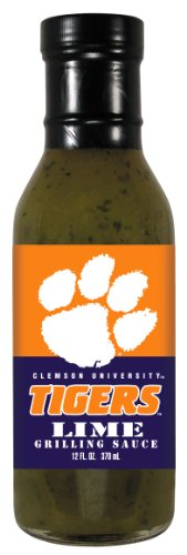 4 Pack CLEMSON Tigers Lime Grilling Sauce 12 oz