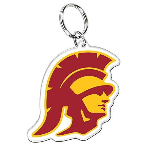 WinCraft USC Trojans Premium Acrylic Key Ring/Zipper Pull, 3 x 2 inches ()