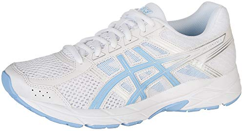 ASICS Gel-Contend 4 Women's Running Shoe, White/Bluebell, 8 M US