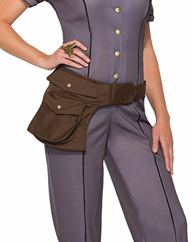 Brown Pouch - Forum Novelties Brown Faux Leather 1940s Treasure Hunter Utility Pouch Satchel