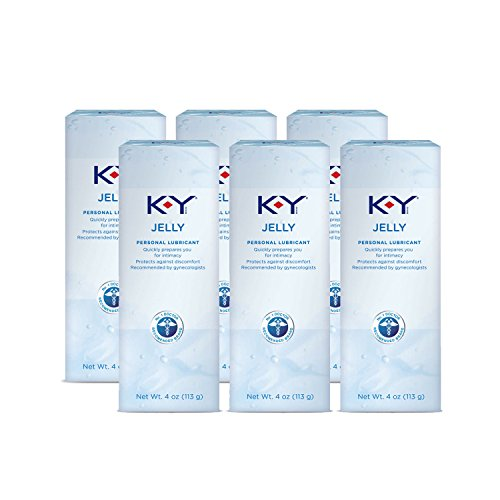 Personal Lubricant, K-Y Jelly Water Based Lube, 4 Ounce (Pack of 6) Personal Lube For Women