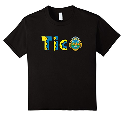 Costa Rica Mexico (Kids Costa Rica T-Shirt Tico Quotes Latino Spanish T-Shirt 12 Black)