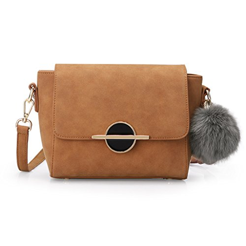 Ensemble chaîne rétro sac à bandoulière sauvage sac Messenger Bag Bag Bagues boule de cheveux ornements mode sauvage