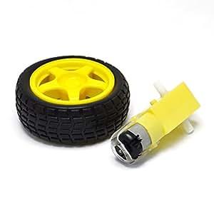 Smart Car Robot Plastic Tire Wheel With Dc 3 6v Gear Motor