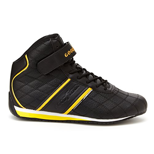 Trains Pedal (Goodyear Mens Clutch Racer Sneaker – High-Top Sneakers, PU Leather & Mesh Lining)
