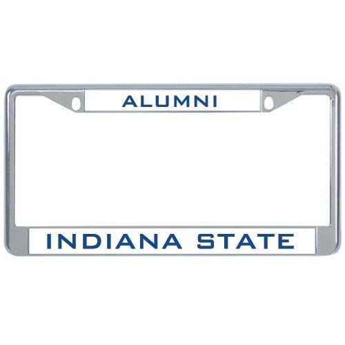 Indiana State Metal License Plate Frame in Chrome Alumni 12