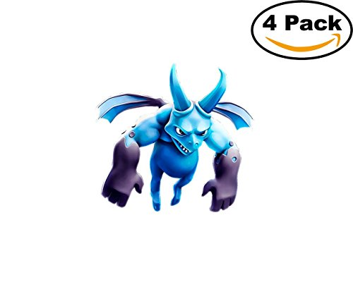 Game Clash Royale 4 Vinyl Stickers 4X4 Inches Decal Bumper Window Wall 3