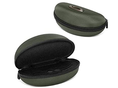 329606a5754 Oakley HALF JACKET FLAK JACKET SOFT VAULT Sunglasses Case green 07-347  Green One Size  Amazon.co.uk  Clothing