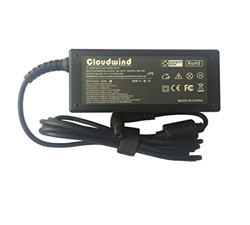 Cloudwind 19V 3.42A 65W Replacement Adapter Charger for Asus K50IJ K53E K53U K55 K55A K55N A52F A53E U46E U52F S46CA S56CA X53E X53U X54C X54H X55A X55C X75A; R503U Power Cord Included.