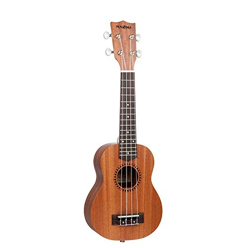 "Muslady 21/""Soprano Ukulele Mahogany Wood with Carry Bag Strap Strings Set A4H7"