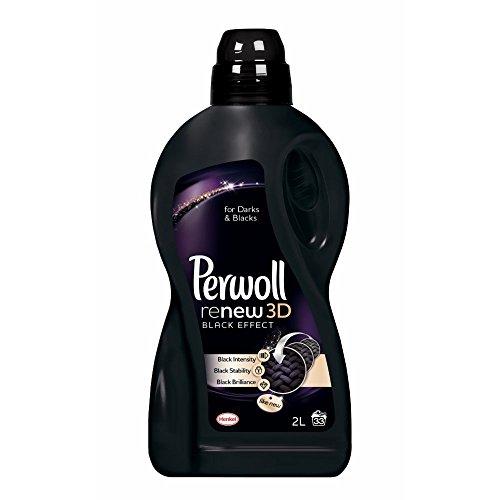 Perwoll Renew + Black Liquid Laundry Detergent 2 Liters, 33 Loads - Laundry Detergent For Dark Colors
