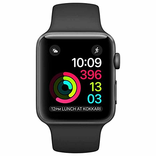 Apple Watch Series 1 38Mm Smartwatch  Space Gray Aluminum Case  Black Sport Band