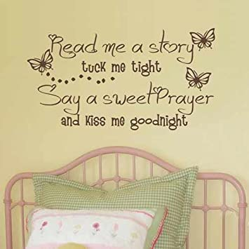 Amazon.com: Kids Decal Vinyl Lettering Read me a Story Tuck me in ...