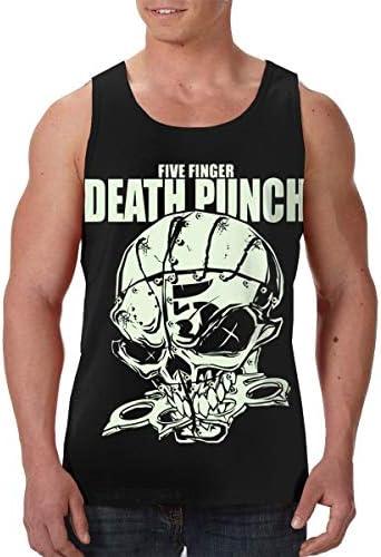 Five Finger Death Punch ランニング ジョギング 男性の筋肉タンク 通気性 速乾