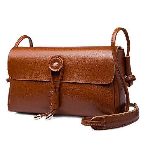 De Hombro Bolsos Genuino Teléfono Brown Vintage Bolsas Cerrojo Bandolera Taihang Verano Cuero Época Color 5EAqwp5x